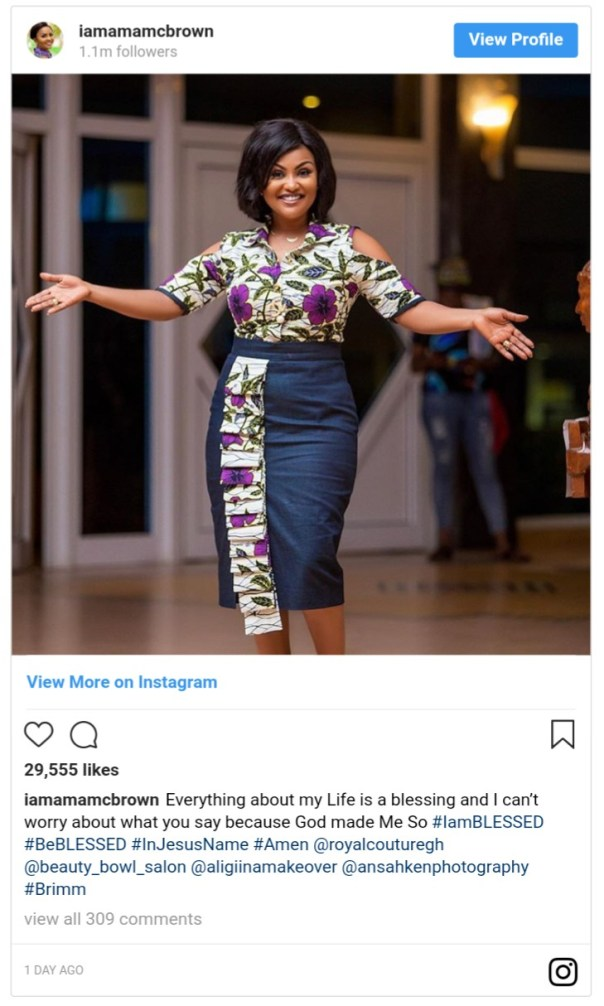 I Can't Worry About What You Say Because My Life Is A Blessing Nana Ama McBrown Says (2)