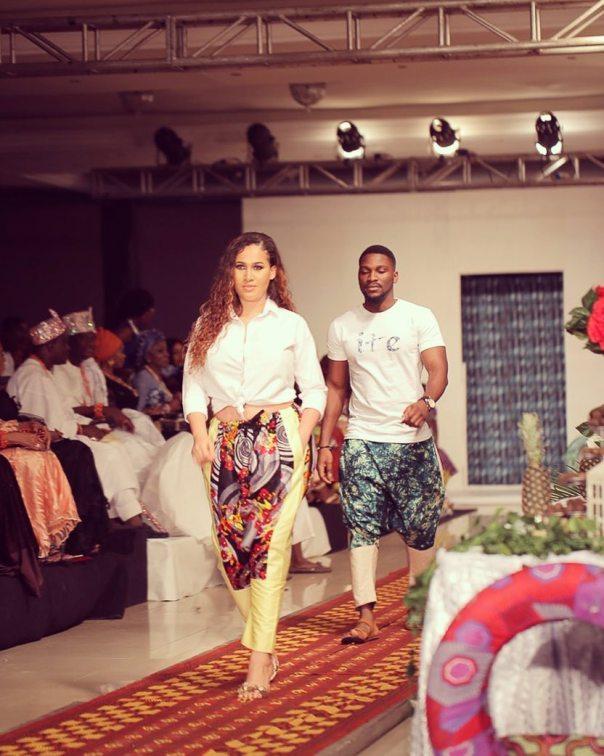 Caroline Danjuma Walks The Runway Ire Clothings With Tobi Bakre