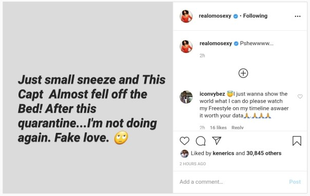 How Omotola Jalade's Husband Reacted Just Because She Sneezed (2)