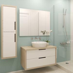 mueble cuarto de baño en madera de haya