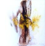 Huile sur toile, 30x30cm, réalisée après une séance pour madame Mo