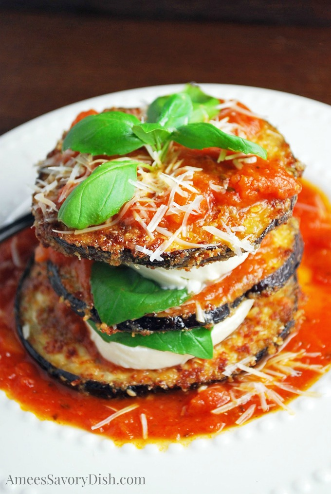 Gluten Free Oven Fried Eggplant is a delicious lighter fried eggplant recipe that can be used for making eggplant parmesan, eaten plain or used to make my scrumptious eggplant mozzarella stacks.