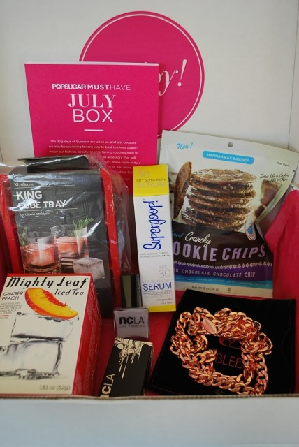 subscription items from a Popsugar MUST HAVE subscription box