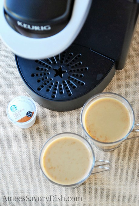 keurig brewer and homemade pumpkin spice lattes