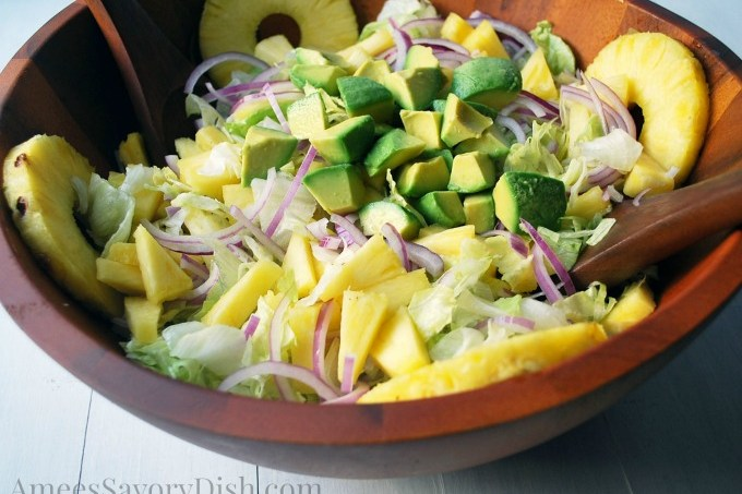 Avocado Pineapple Salad