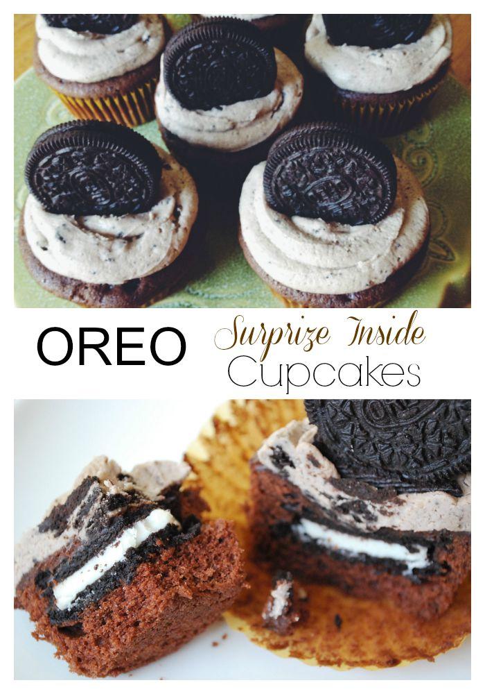 Oreo Surprise Inside Cupcakes