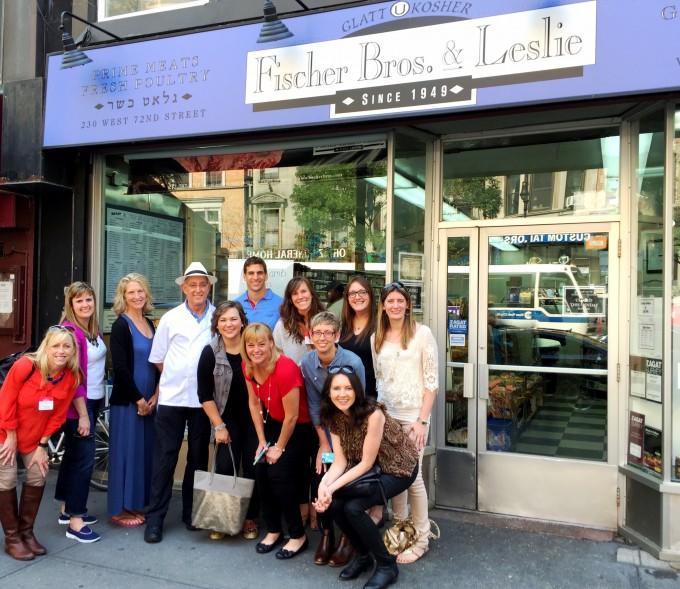 group photo at Fischer Bros