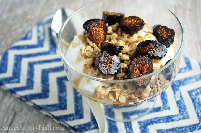 Fig & Maple yogurt parfait