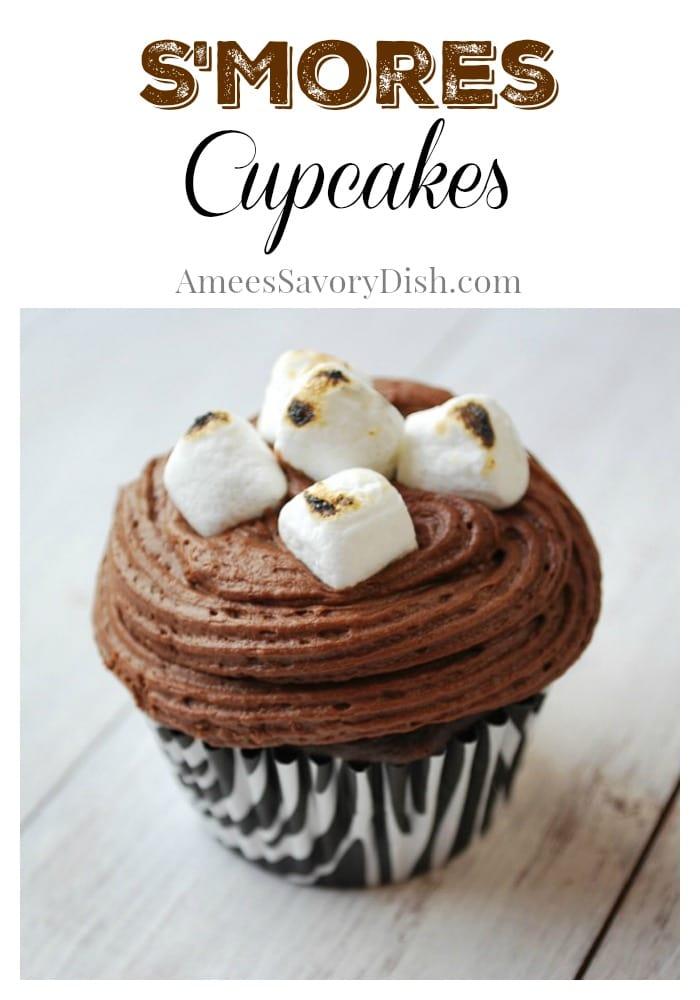 moist smores cupcakes
