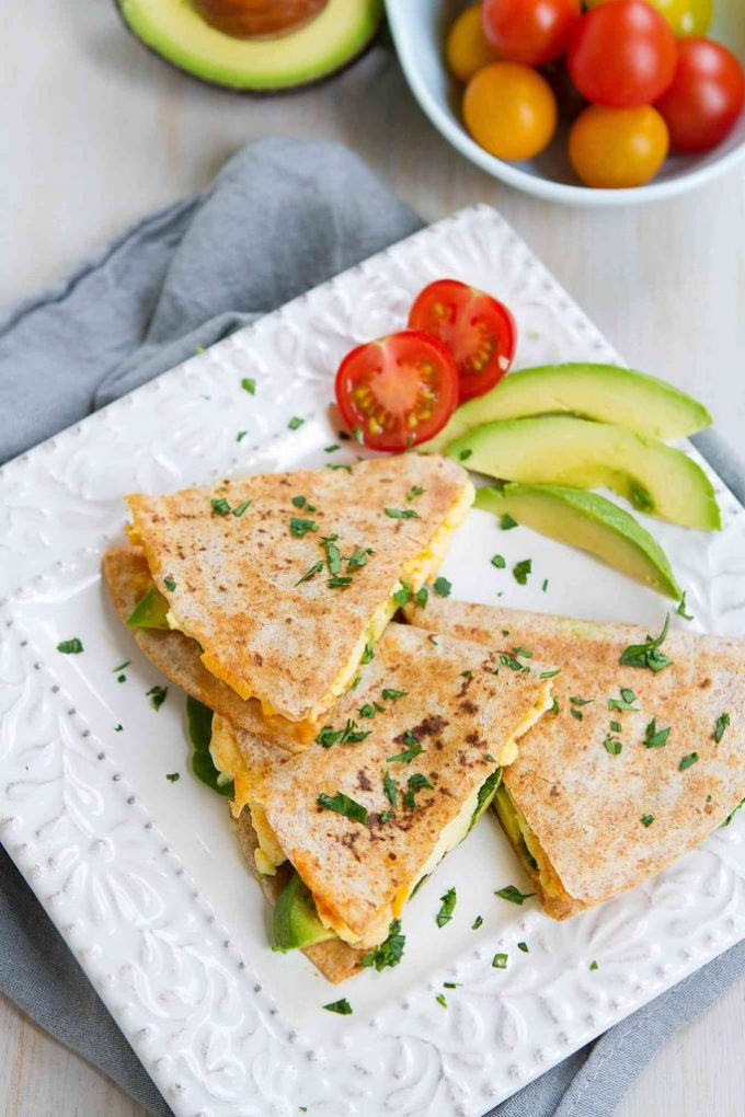 Spinach Avocado Breakfast Quesadilla-Cookin-Canuck