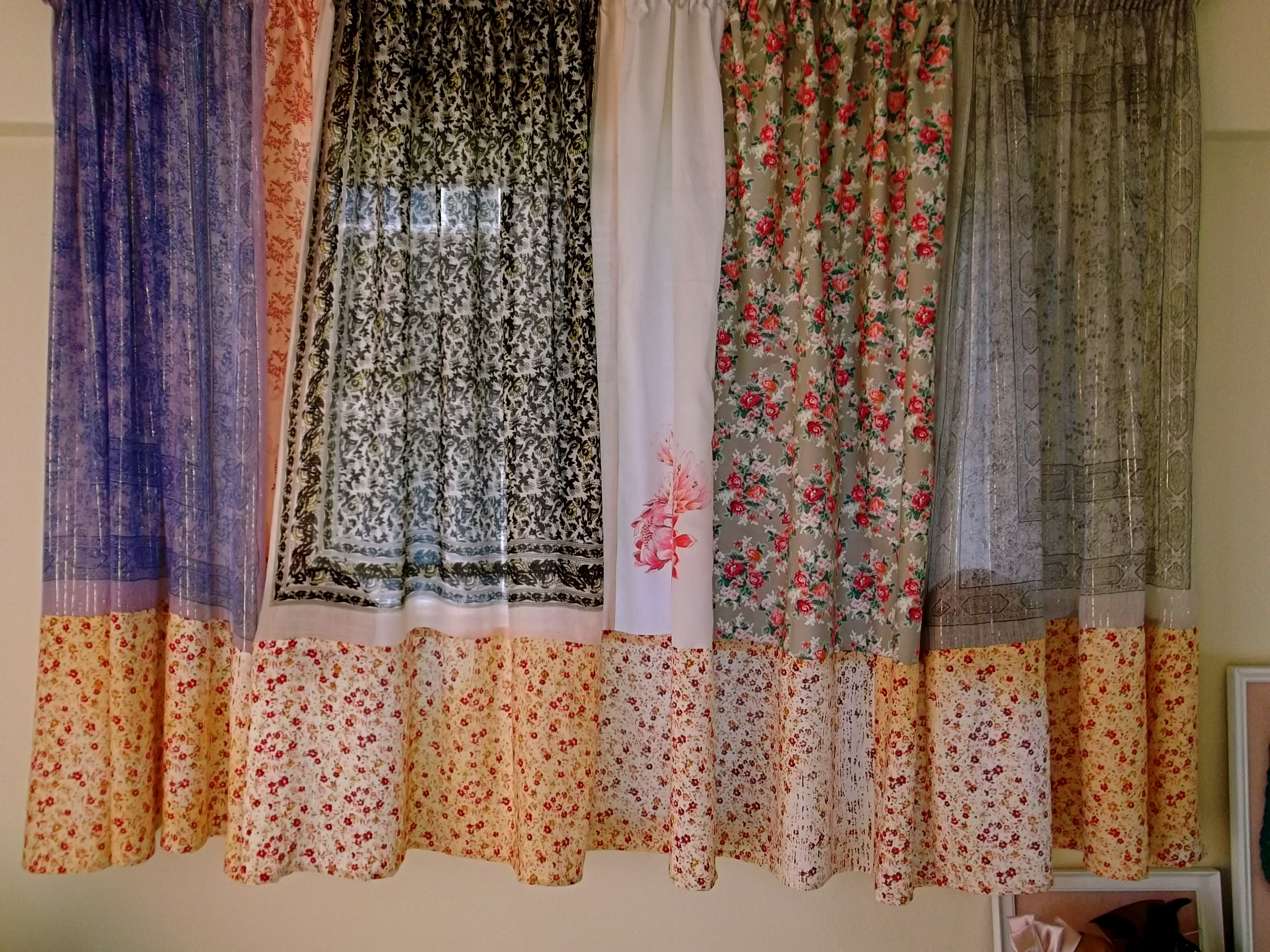 Making Curtains Out Of Scarves Ameezing