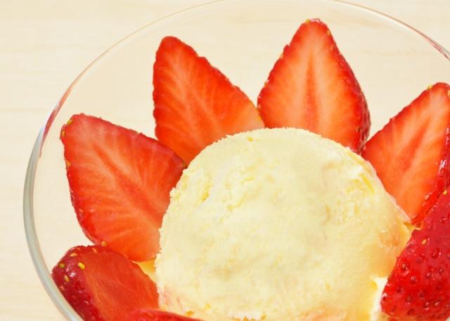 苺とアイス