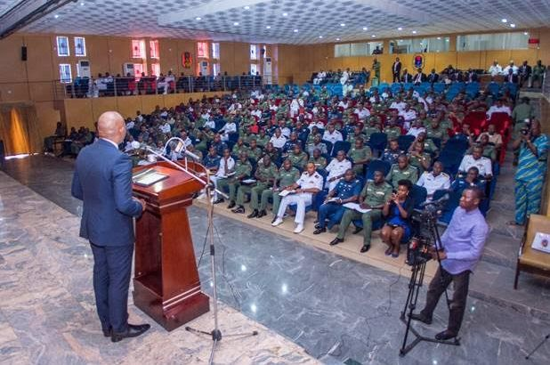 Elumelu in Jaji, Urges officers to stands as leaders worth emulate by future generation
