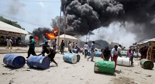 NNPC Said Abia Oil Pipeline Explosion triggered off by suspected oil thieves
