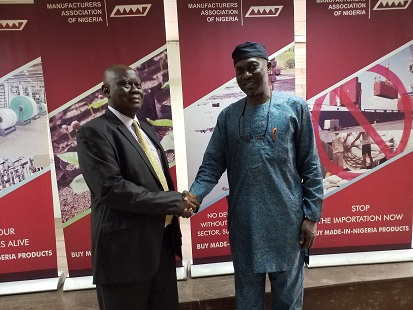 President of the institute of Loss Adjusters of Nigeria on a courtesy visit to MAN