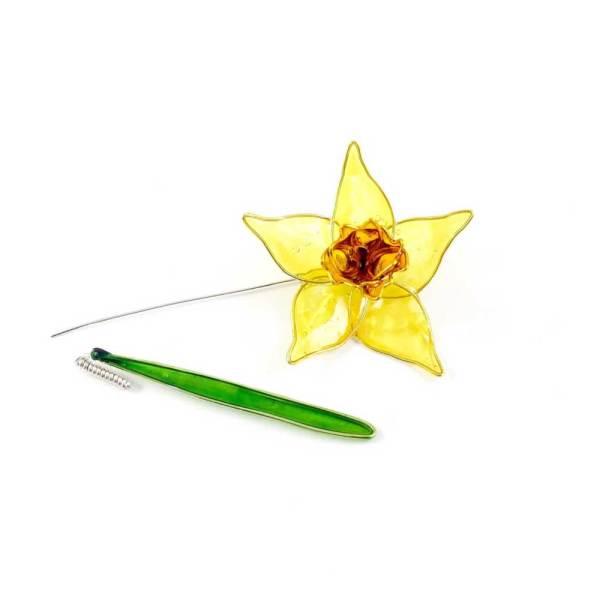 Yellow-daffodil-brooch