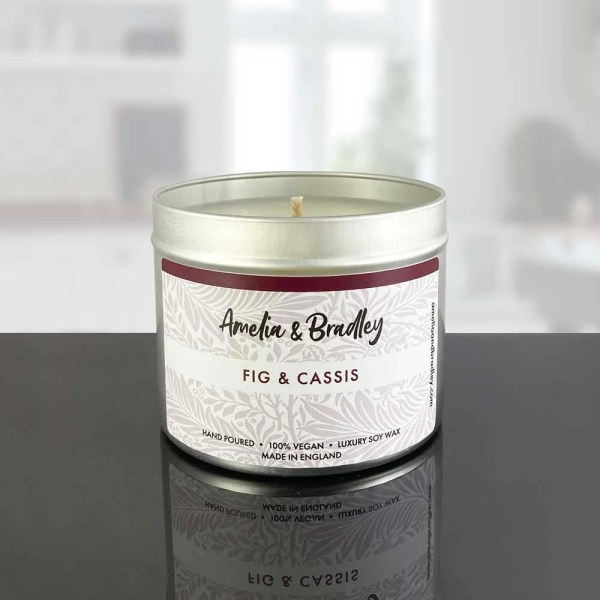 fig and cassis soy wax candle