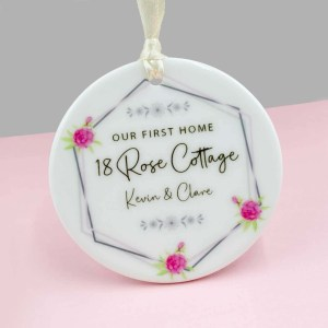 New Home Floral Bauble-keepsake