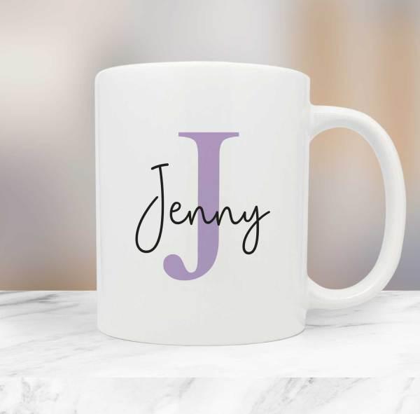 Personalised Name Initial Mug