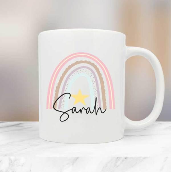 Personalised Rainbow Name Mug
