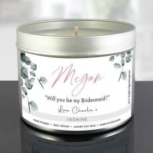 Bridesmaid Proposal Gift Candle