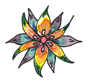 rainbow kindness camp flower