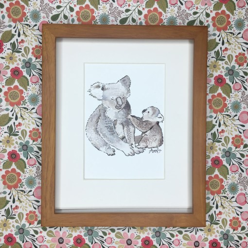 baby koala watercolor art print