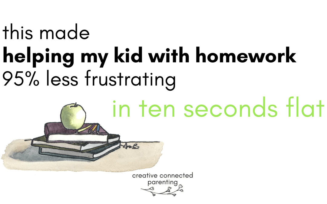 I just figured out how to make helping my kids with homework about 95% less miserable