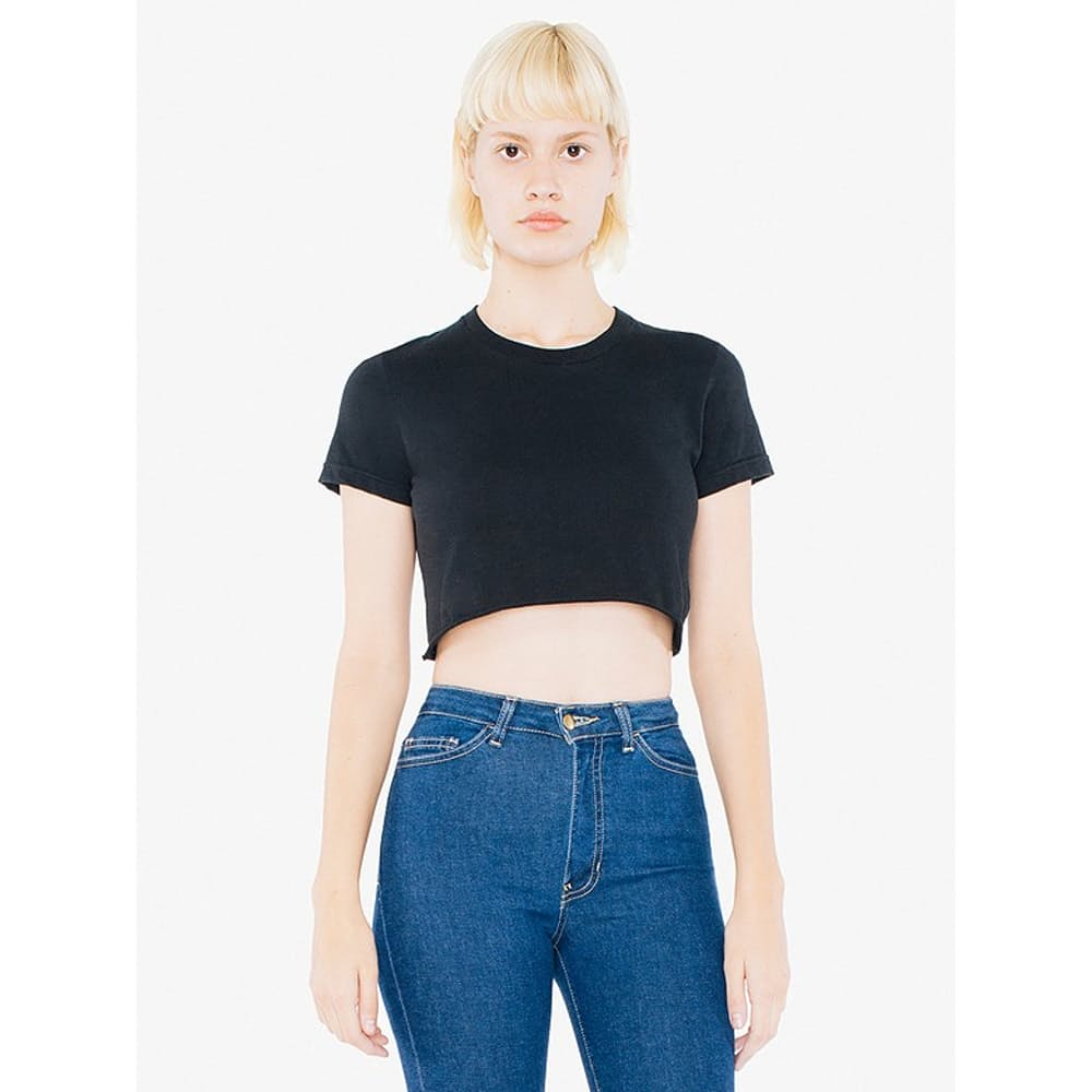 Short Sleeve Cropped T-Shirt LA Apparel 2332 Fine Jersey