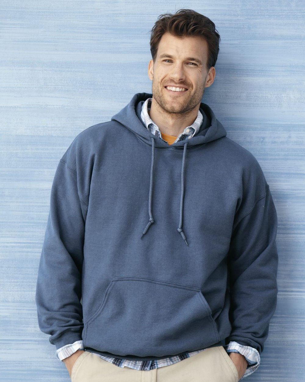 Model wearing Pullover Fleece Hoodie
