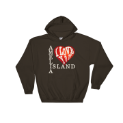 Amelia I Love You Hoodie Dark-Chocolate