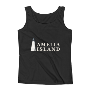 Amelia Iconic Lighthouse Missy Fit Tank-Top Black