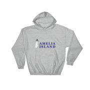 Amelia Island Iconic Lighthouse Hoodie Sport-Grey