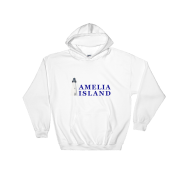 Amelia Island Iconic Lighthouse Hoodie White