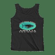 Amelia Island Right Whale Nursery Ladies Missy Fit Ringspun Tank Top Black