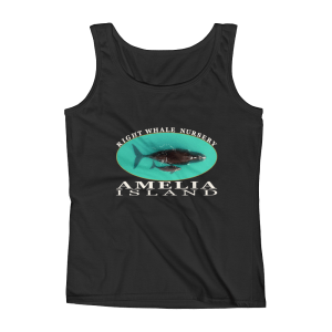 Amelia Island Right Whale Nursery Ladies Missy Fit Ringspun Tank Top Black
