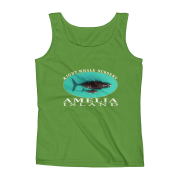 Amelia Island Right Whale Nursery Ladies Missy Fit Ringspun Tank Top Green-Apple