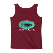 Amelia Island Right Whale Nursery Ladies Missy Fit Ringspun Tank Top Independence-Red