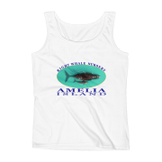Amelia Island Right Whale Nursery Ladies Missy Fit Ringspun Tank Top White