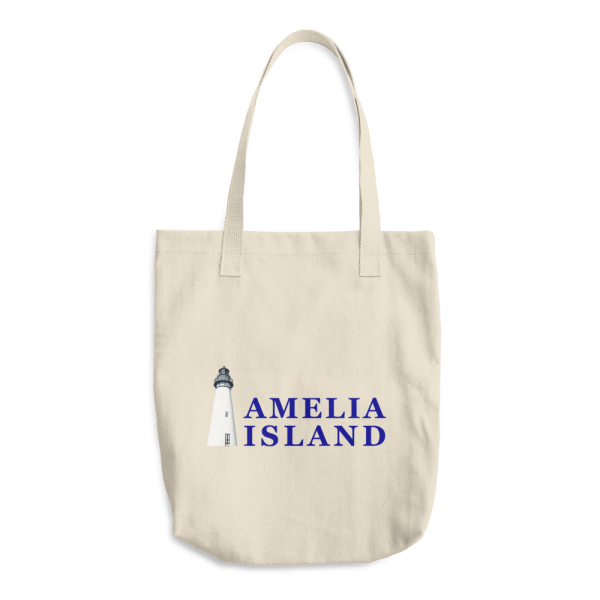 Amelia's Iconic Lighthouse Beige Tote