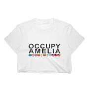 Occupy Amelia Cropped T-Shirt White