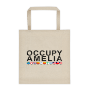 Occupy Amelia Bull Denim Cotton Tote Beige