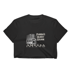Oldest Saloon Short Sleeve Cropped T-Shirt Black