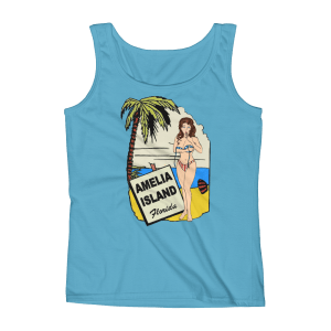 Oops My Bathing Suit Missy Fit Tank-Top Caribbean-Blue