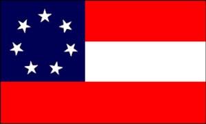 Stars and Bars Confederate Flag Amelia 1861