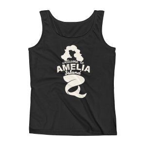 Welome to Amelia Mermaid Missy Fit Tank-Top Black