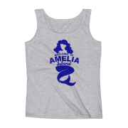 Welome to Amelia Mermaid Missy Fit Tank-Top Heather-Grey