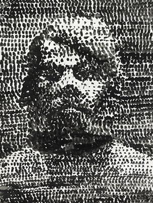 British Museum, Ohne Titel (Self Portrait), 1975 - AR Penck
