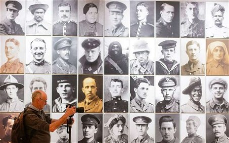 National Portrait Gallery - World War One Photograph wall