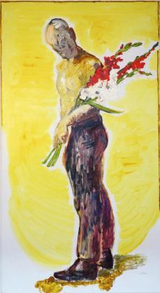 a - Mann mit Blumen (Peter Schmersal)